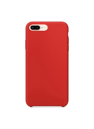 Bludfire Apple iPhone 7 Plus/8 Plus Kılıf Liquid Lansman Silikon Kırmızı Kırmızı